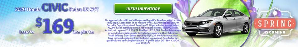 2020 Honda Civic Sedan LX CVT - March 2020