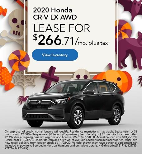 2020 Honda CR-V LX AWD - October 2020