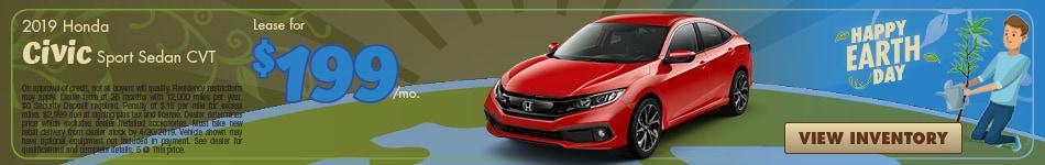 New 2019 Honda Civic Sport Sedan CVT 4/4/2019