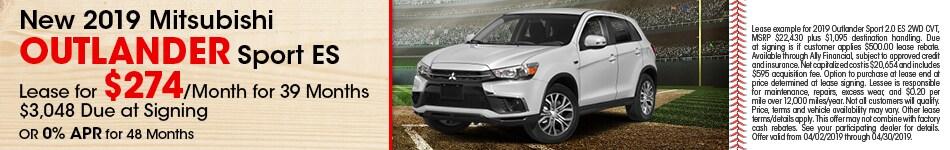 2019 Mitsubishi Outlander Sport ES - Lease