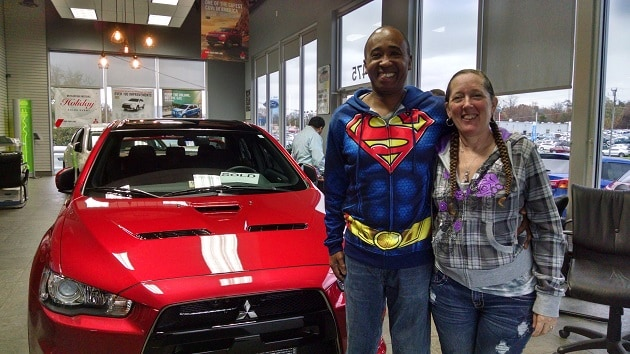 Happy Customers, the Blands, with their purchase of a brand new Final Edition Lancer Evolution!