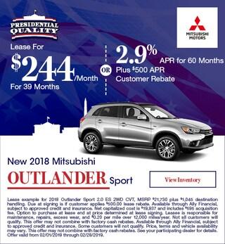 New 2018 Mitsubishi Outlander Sport