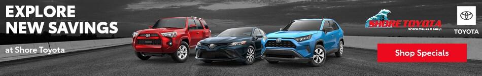 Explore New Savings at Shore Toyota