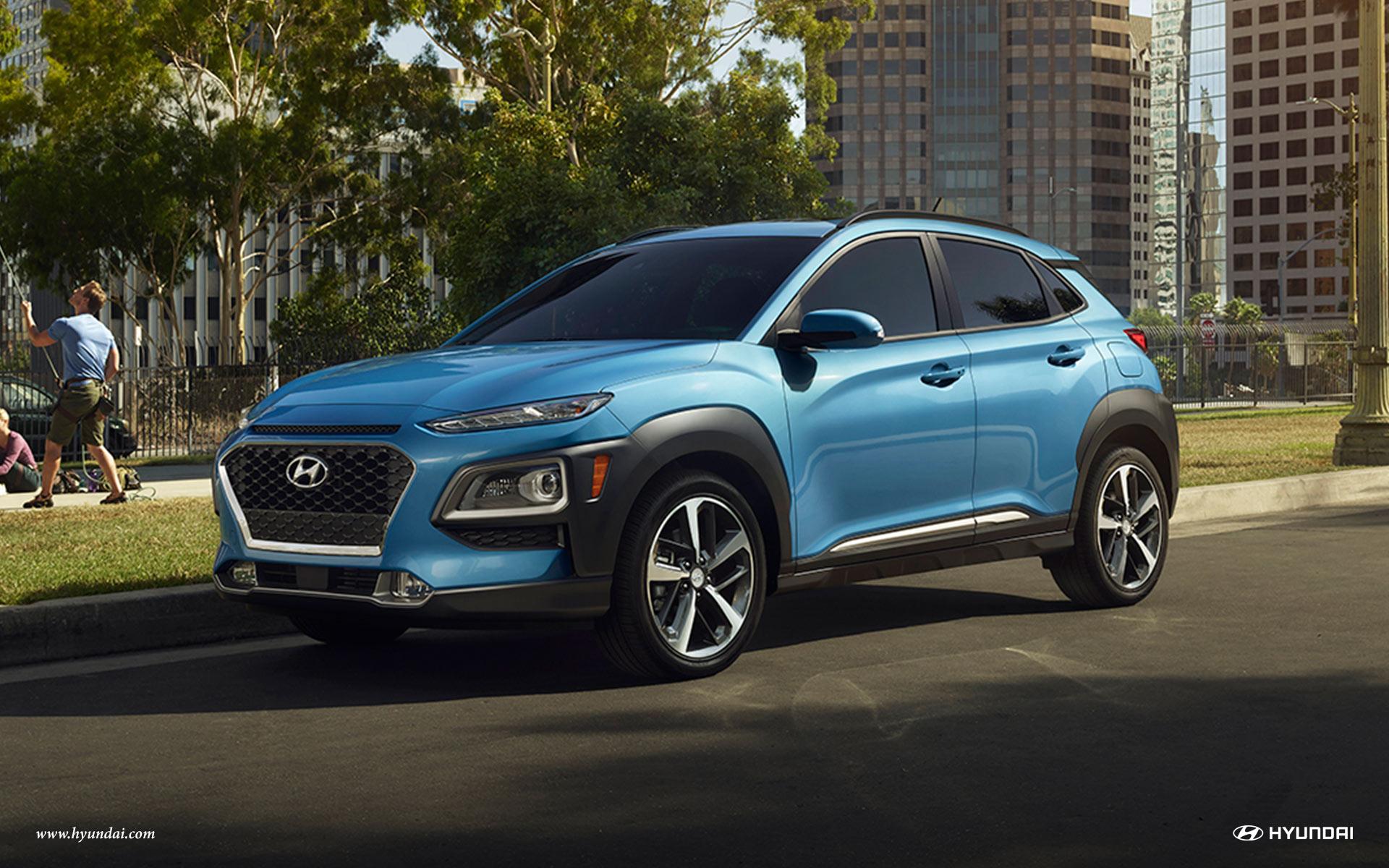 2018 Hyundai Kona blue