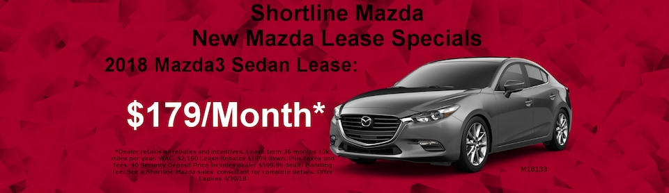 2018 Mazda3 Lease for $179 a Month