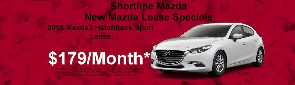 Shortline Mazda's May Mazda3 Lease Special