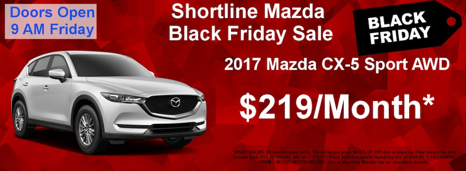 Shortline Mazda Black Friday Special