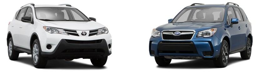 Compare Forester to Toyota RAV4 in Aurora  New SUV Showdown