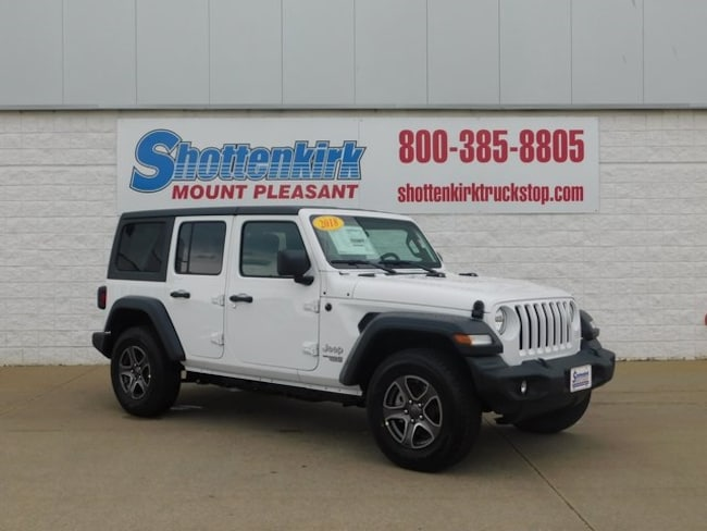New 2018 Jeep Wrangler UNLIMITED SPORT S 4X4 Sport Utility Mount Pleasant