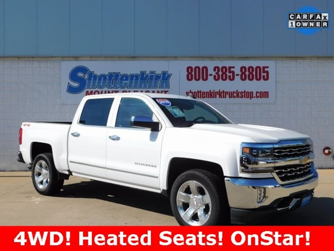 2018 Chevrolet Silverado 1500 LTZ Truck Crew Cab for sale in Mt. Pleasant, IA at Shottenkirk Mount Pleasant
