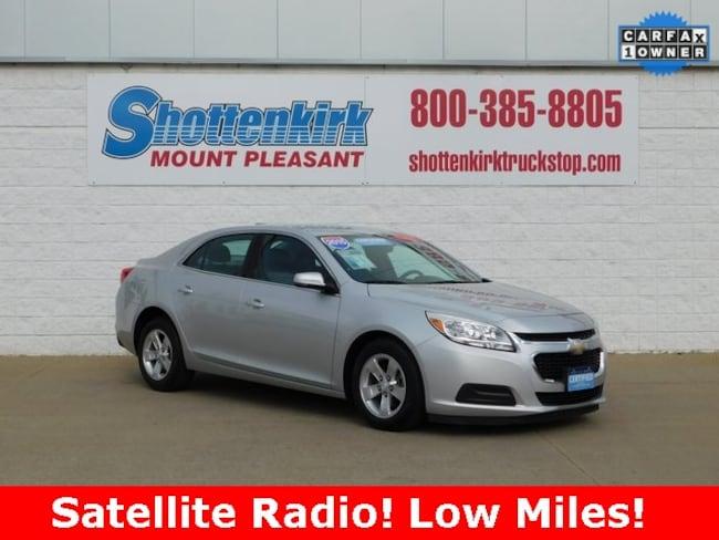 2015 Chevrolet Malibu LT w/1LT Sedan for sale in Mt. Pleasant, IA at Shottenkirk Mount Pleasant