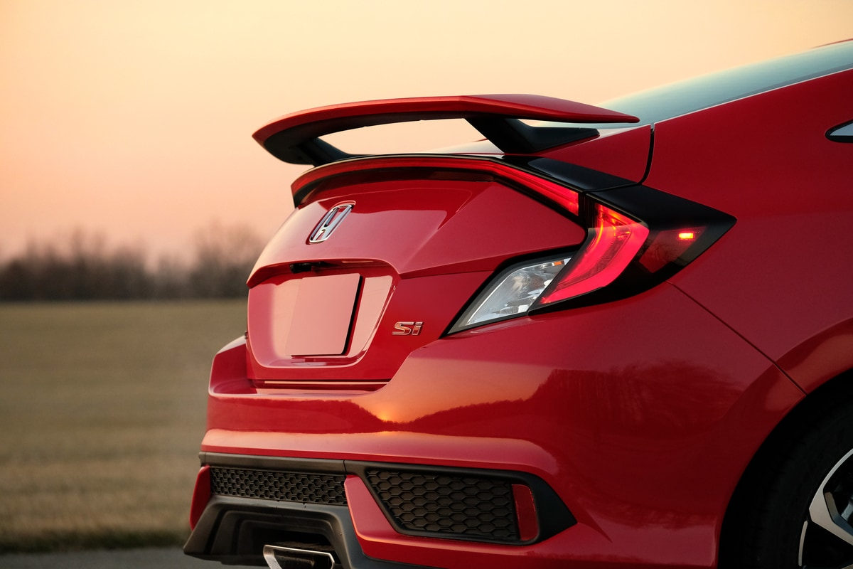 2017 Civic Si coupe spoiler