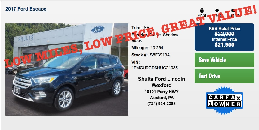 Shults Ford Lincoln Wexford Pa >> Shults Ford Lincoln Inc New Ford Dealership In Wexford Pa 15090