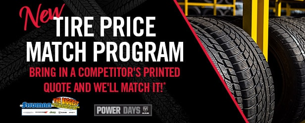 Shuman Chrysler Dodge Jeep Ram Tire Price Match Special in Walled Lake MI