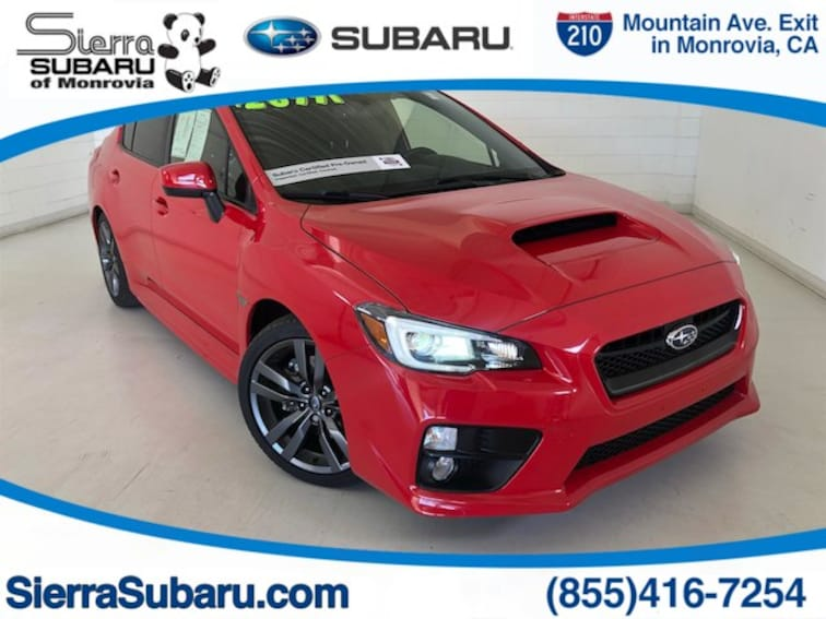 Certified Pre-Owned 2017 Subaru WRX Sedan For Sale Monrovia, CA