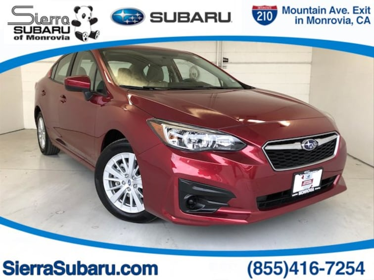 Certified Pre-Owned 2018 Subaru Impreza 2.0i Premium Sedan For Sale Monrovia, CA