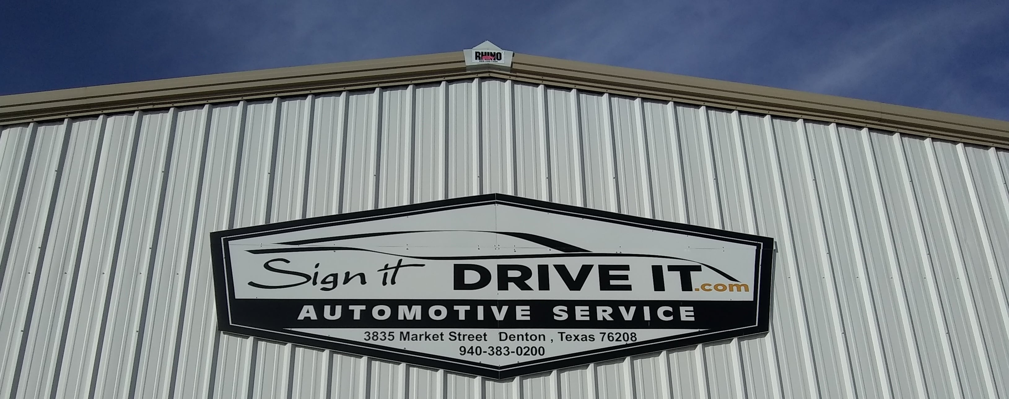 Automotive Sales and Collision Repair Denton TX Sign It Drive It