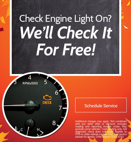Check Engine Light On? We'll Check It For Free!