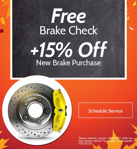 Free Brake Check +15% Off New Brake Purchase