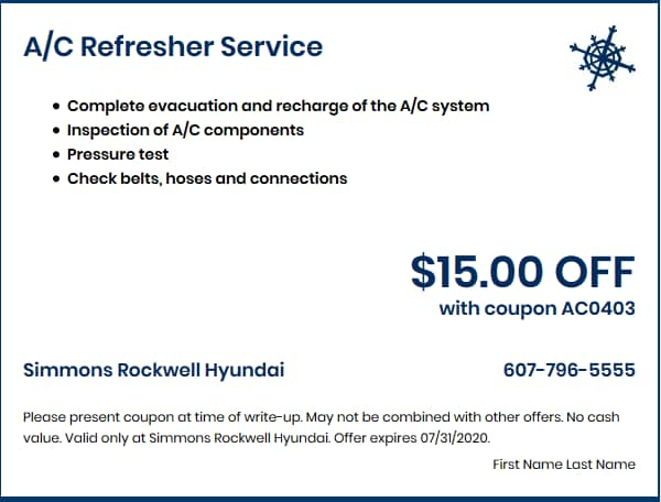 A/C Refresher Service