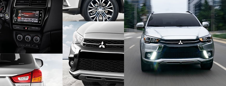 picture of a Mitsubishi Outlander Sport and many of the different features