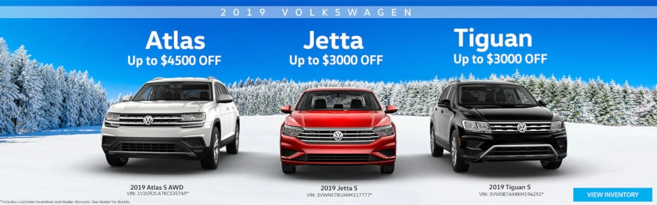 Save Thousands on New 2019 VWs