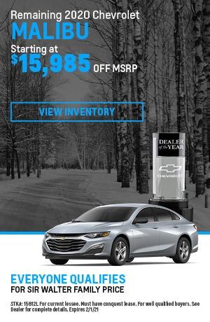 January | 2020 Chevrolet Malibu | MSRP Offer