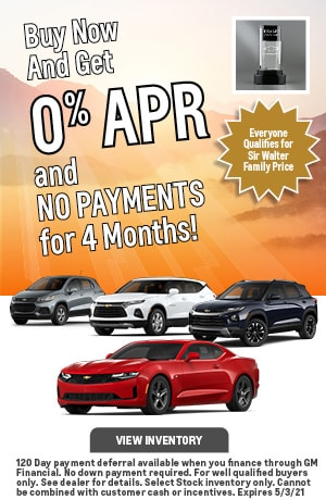 April | 0% APR and NO PAYMENTS for 4 Months!