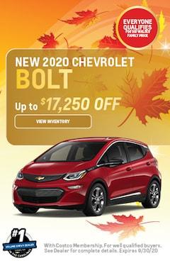 September | 2020 Chevrolet Bolt | Lease Special