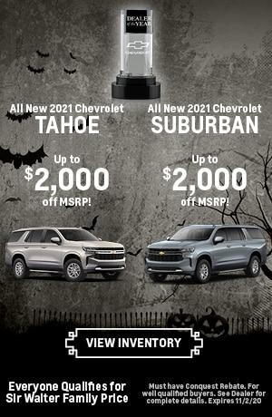 October | All New 2021 Chevrolet Tahoe All New 2021 Chevrolet Suburban
