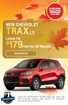 September | 2020 Chevrolet Trax | Lease Special