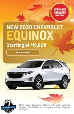 September | 2020 Chevrolet Equinox | Lease Special