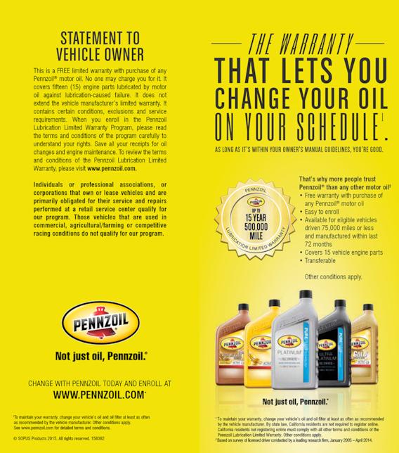 Pennzoil Near Me >> Pennzoil Warranty Benefits Oil Change Services In Deming