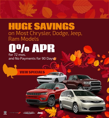 Huge Savings on Most Chrysler, Dodge, Jeep, Ram Models