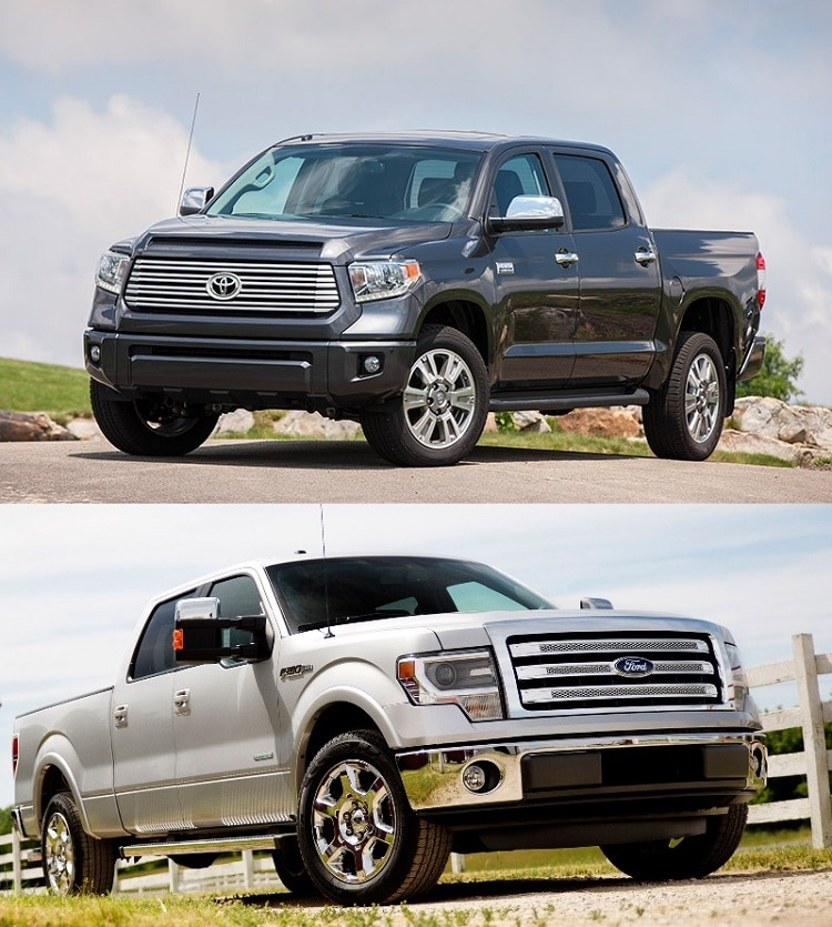 toyota tundra vs ford f 150. Black Bedroom Furniture Sets. Home Design Ideas