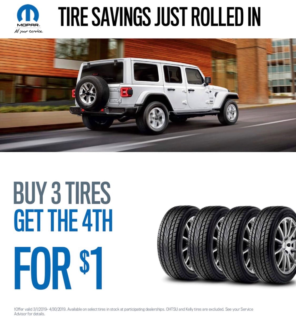 Tire Savings Just Rolled In!