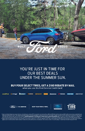 Buy four select tires, get a $180 rebate by mail