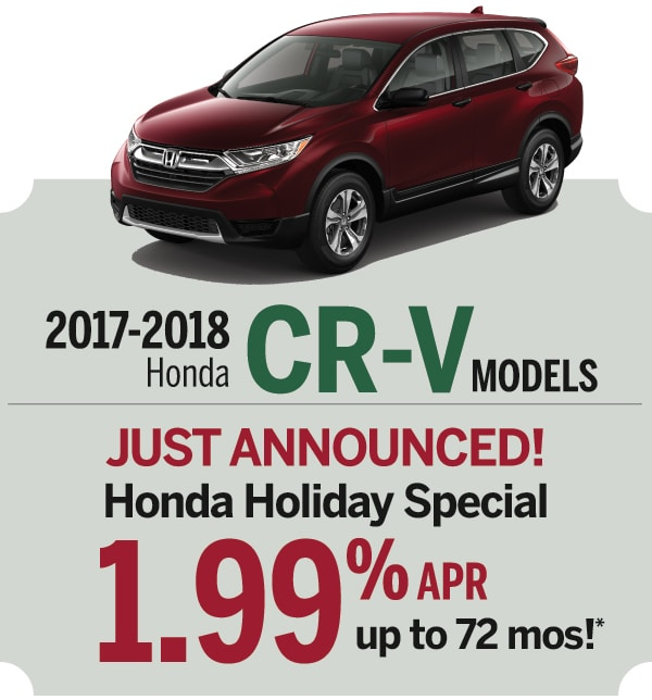 New honda cr v lease or finance offers at smail honda in for Honda cr v incentives