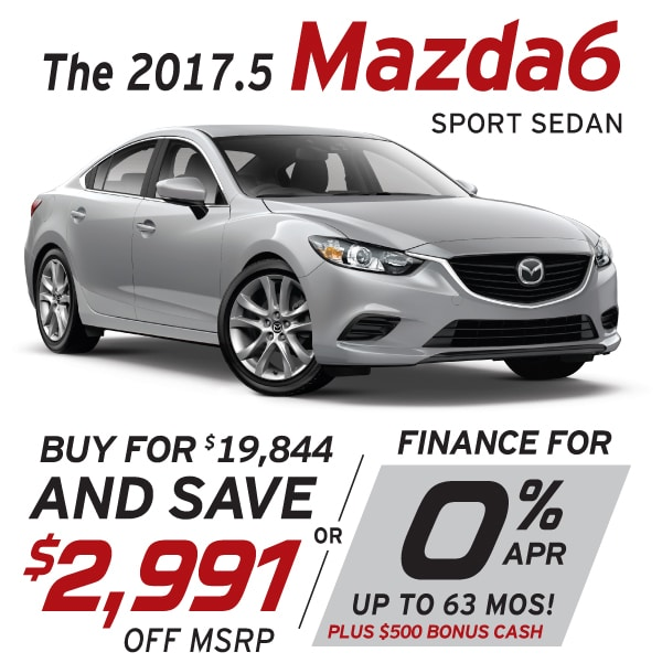 2017.5 Mazda6 Lease and Finance Offers