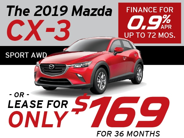 Mazda Cx 3 Lease >> 0 9 Apr For 72 Months 2019 Mazda Cx 3 Sport Awd