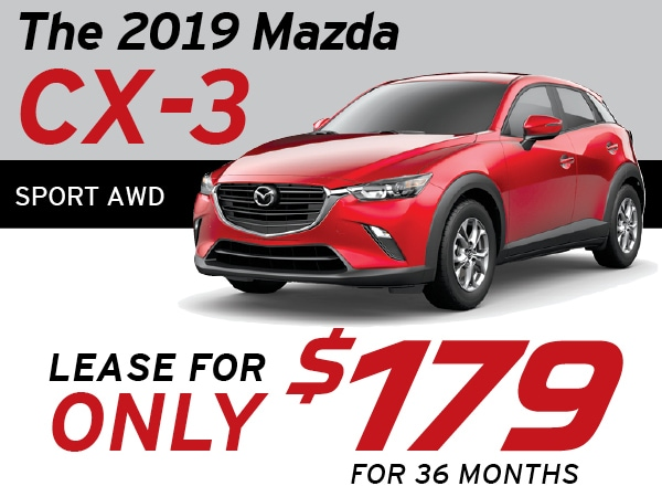 Mazda Cx 3 Lease >> Lease For 179 Month 2019 Mazda Cx 3 Sport Awd In Greensburg Pa