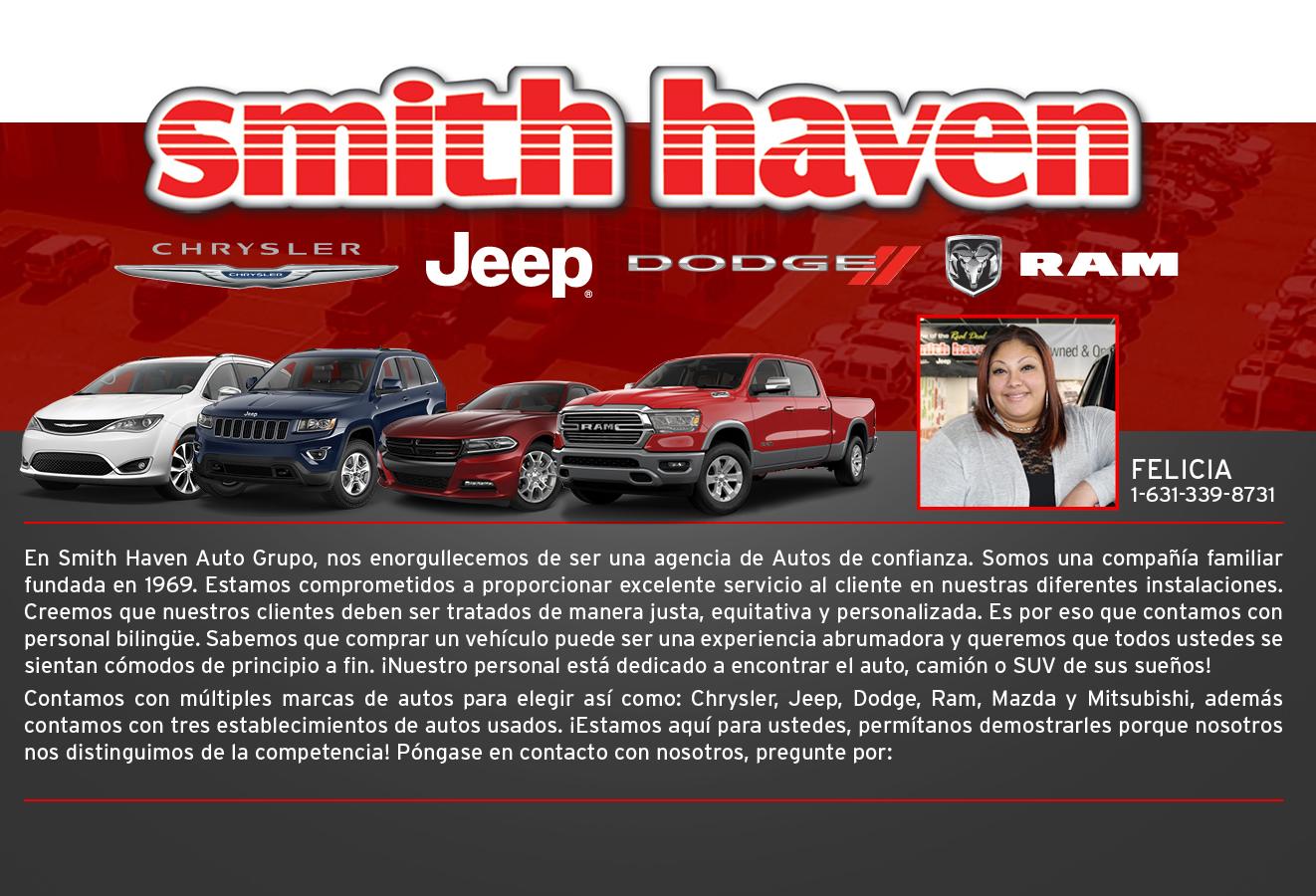 smith haven chrysler jeep dodge ram espa ol llama a felicia 631 339 8731 smith haven. Black Bedroom Furniture Sets. Home Design Ideas