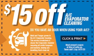 $15 Off A/C Evaporator Cleaning