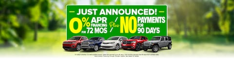 0% APR For 72 Months - No Payments 90 Days