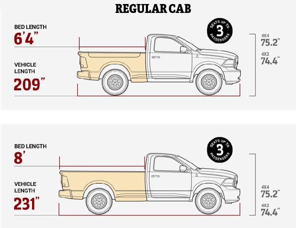 dodge truck cab sizes best image truck kusaboshi com. Black Bedroom Furniture Sets. Home Design Ideas