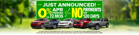 0% APR For 72 Months - No Payments 120 Days