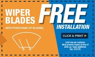 Free Wiper Blade Installation