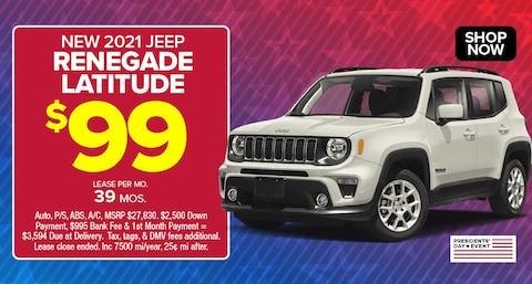 Jeep Renegade Latitude Deal - Feb 2021