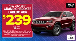 Jeep Grand Cherokee Deal - April 2021