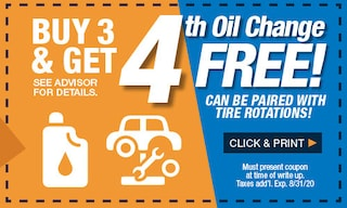 Buy 3 & Get 4th Oil Change Free
